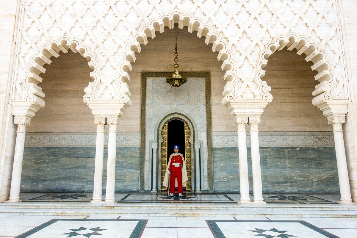 Guard at the Mausoleum of Mohammed V in Rabat