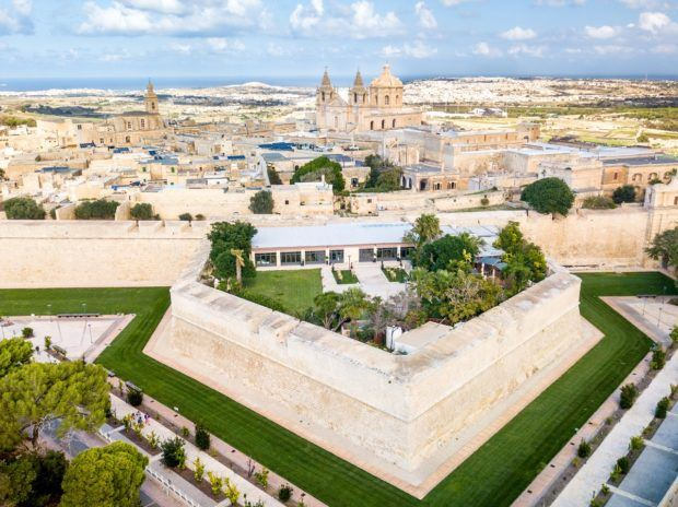 The view above Mdina, a Malta must see