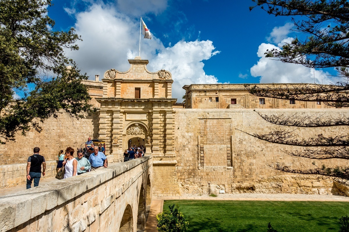 Main city gate of Mdina, Malta