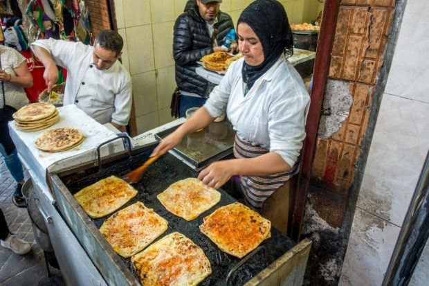 Msemmen was our favorite Morocco street food discovery