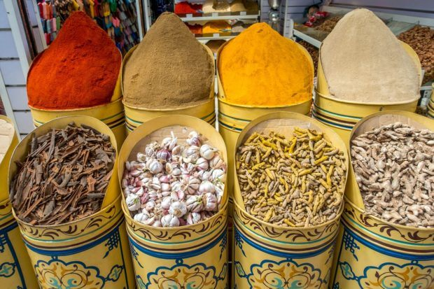 The spice souk of the medina on a Marrakesh Food Tour