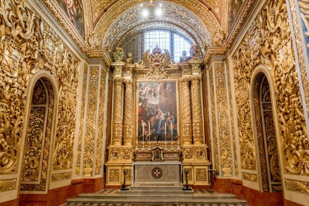 St. John's Co-Cathedral in Valletta Malta is intricate and detailed. A visit here is one of the top things to do in Valletta