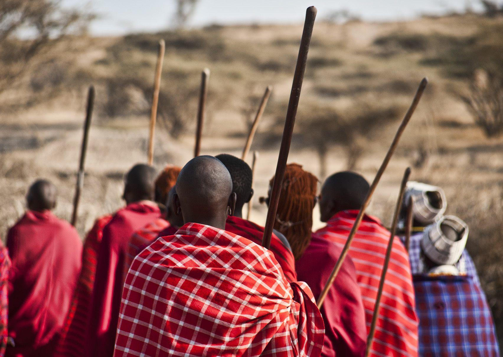 The Maasai tribe in Tanzania.
