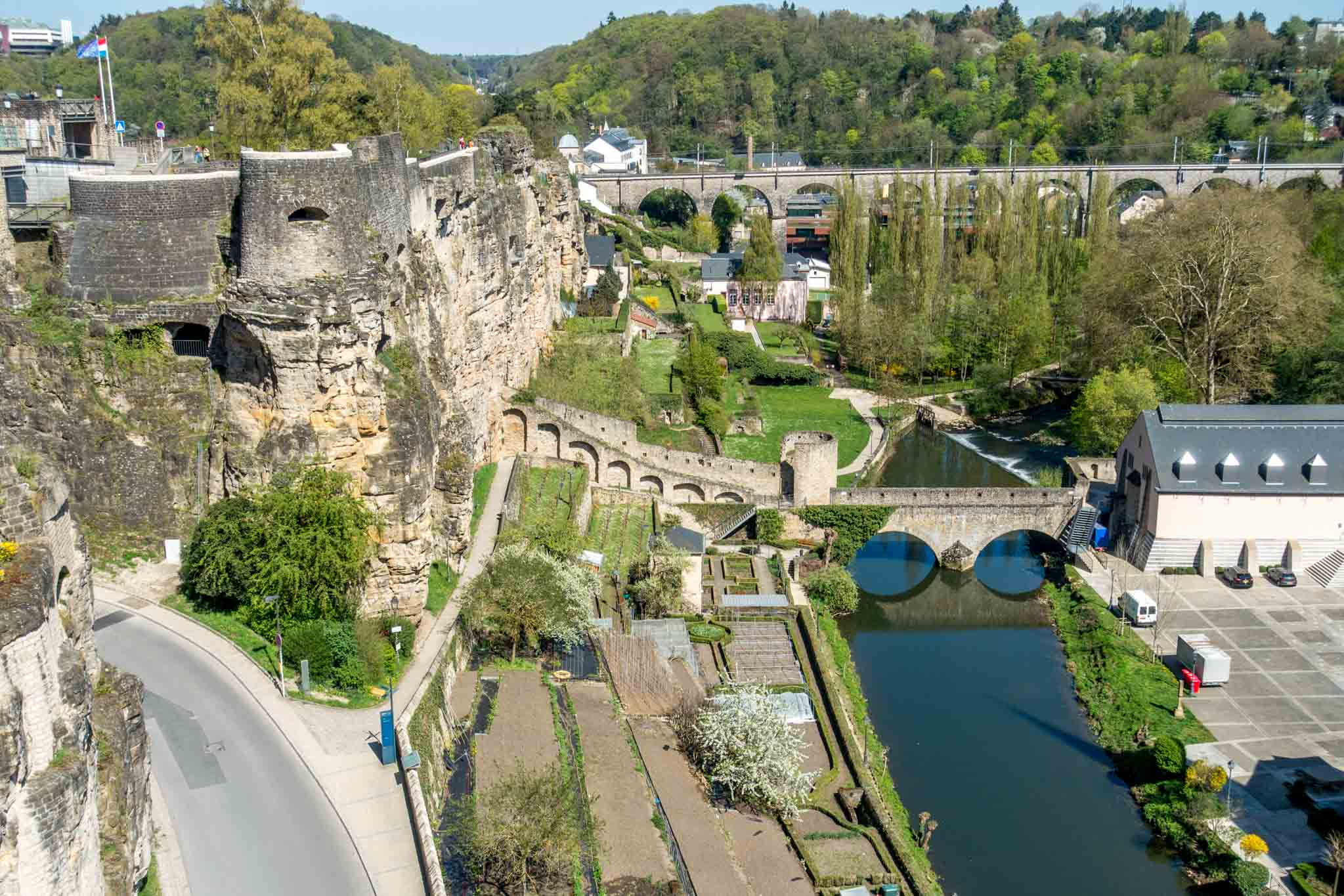 The Grund and the Casemates are what to see in Luxembourg City