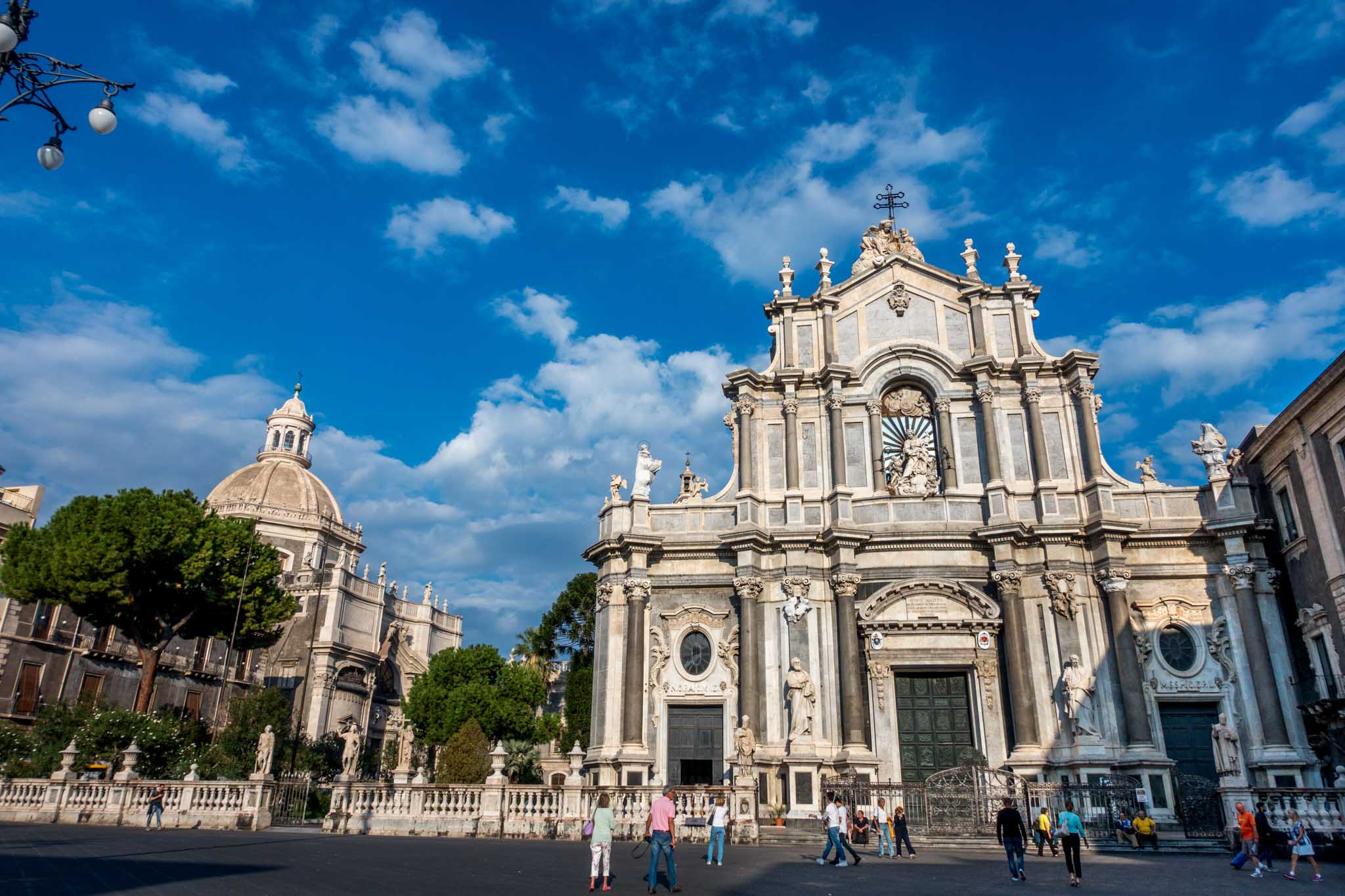 The Piazza del Duomo is one of Catania Sicily top sights