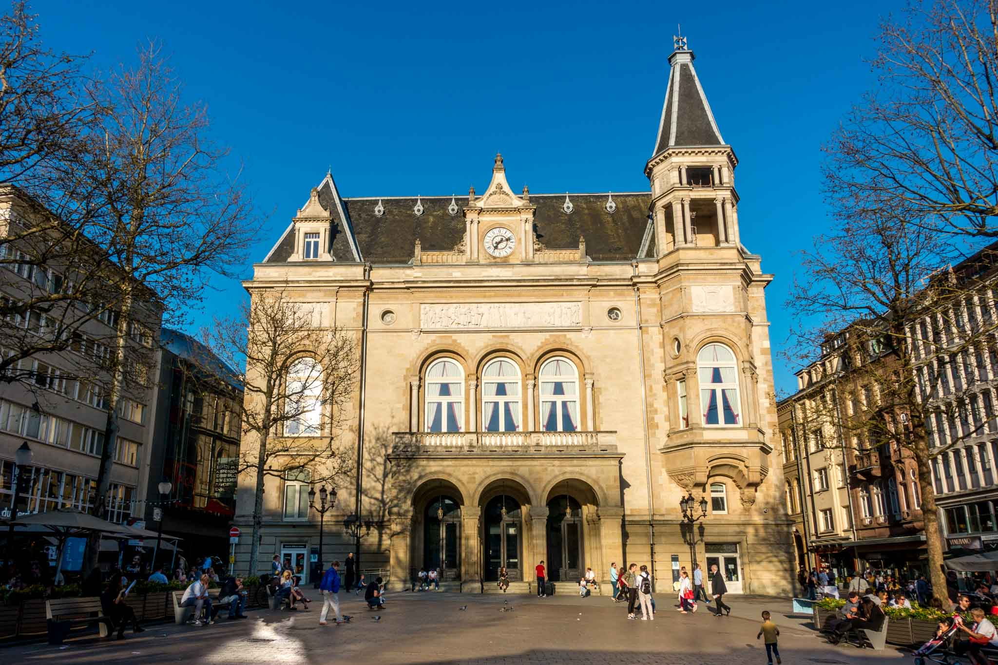 Cercle Cite in the center of Luxembourg City hosts special exhibits. A visit here is one of the things to do in Luxembourg.
