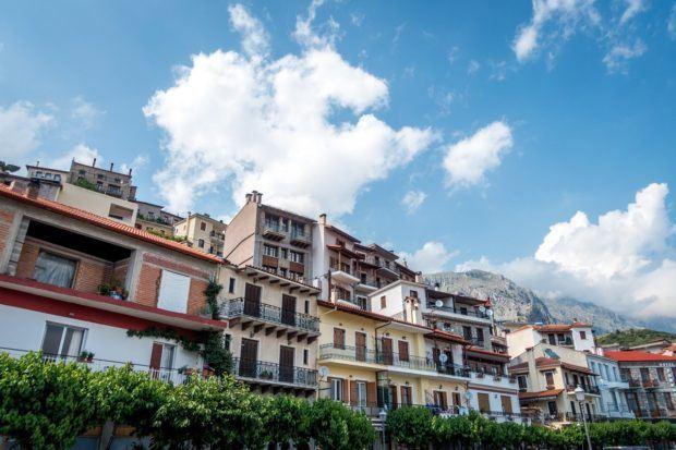 Hotels and apartment rentals in Arachova, Greece near Delphi.