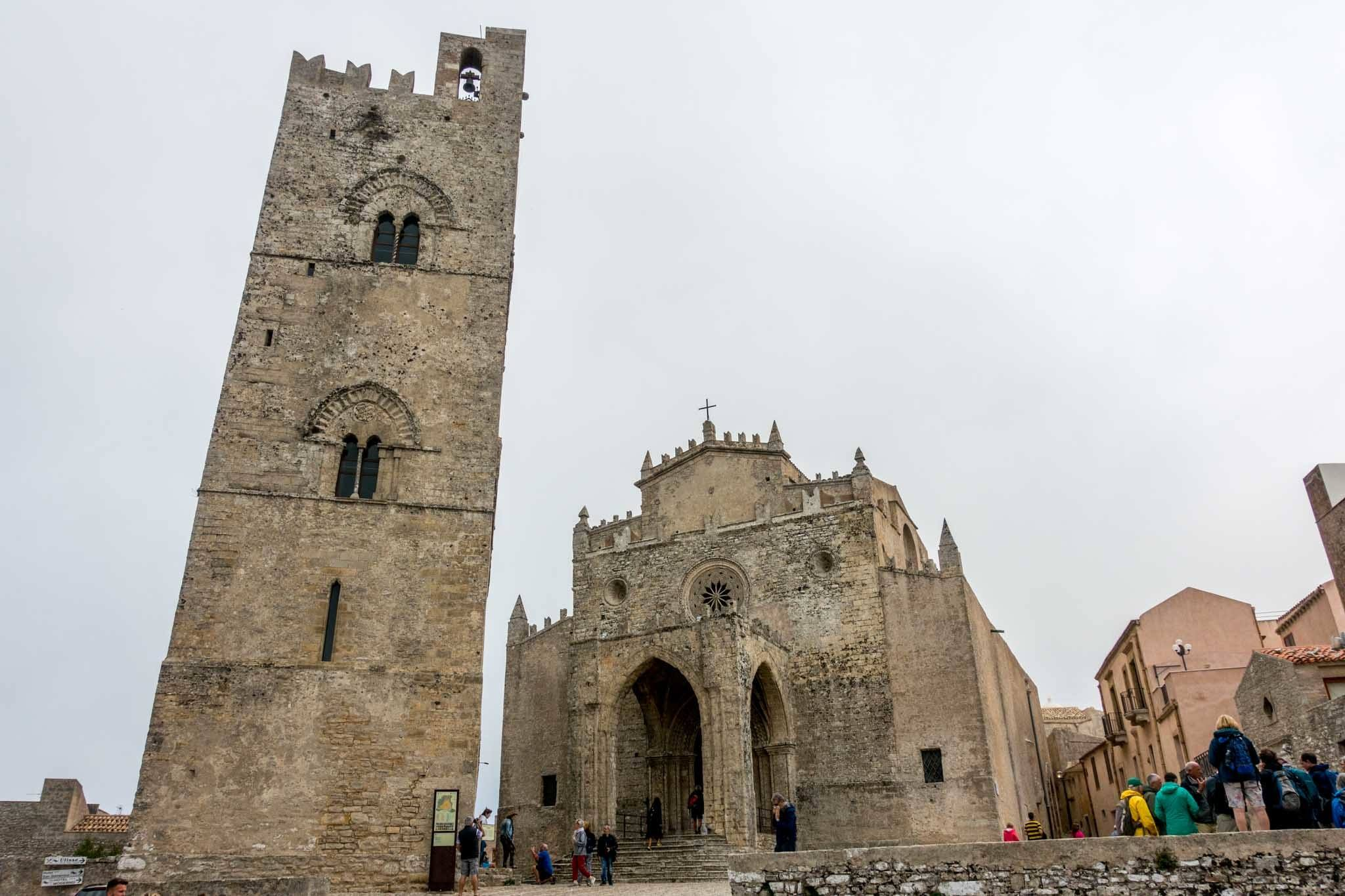 Church and belltower in Erice