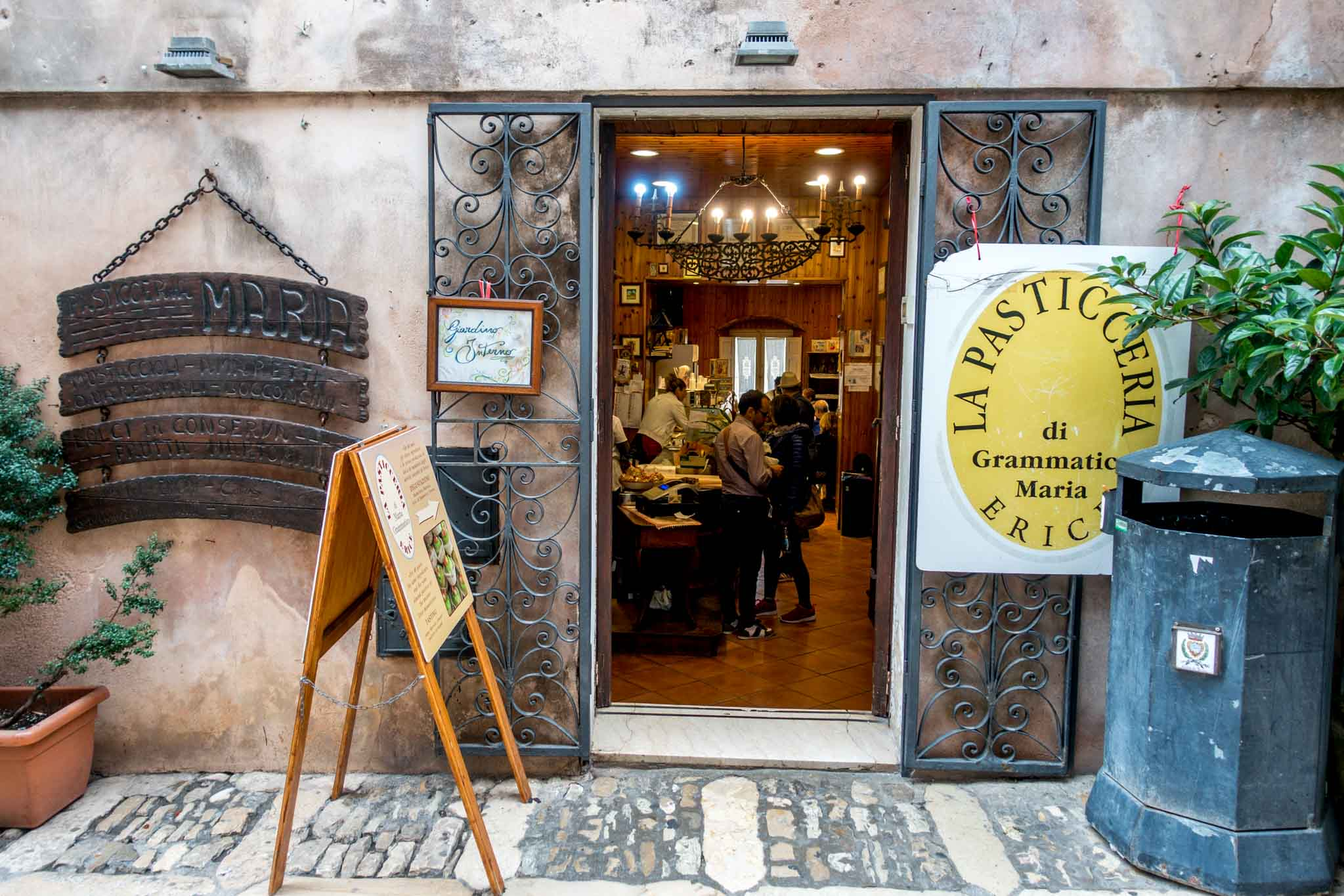 Exterior of pastry shop in Erice