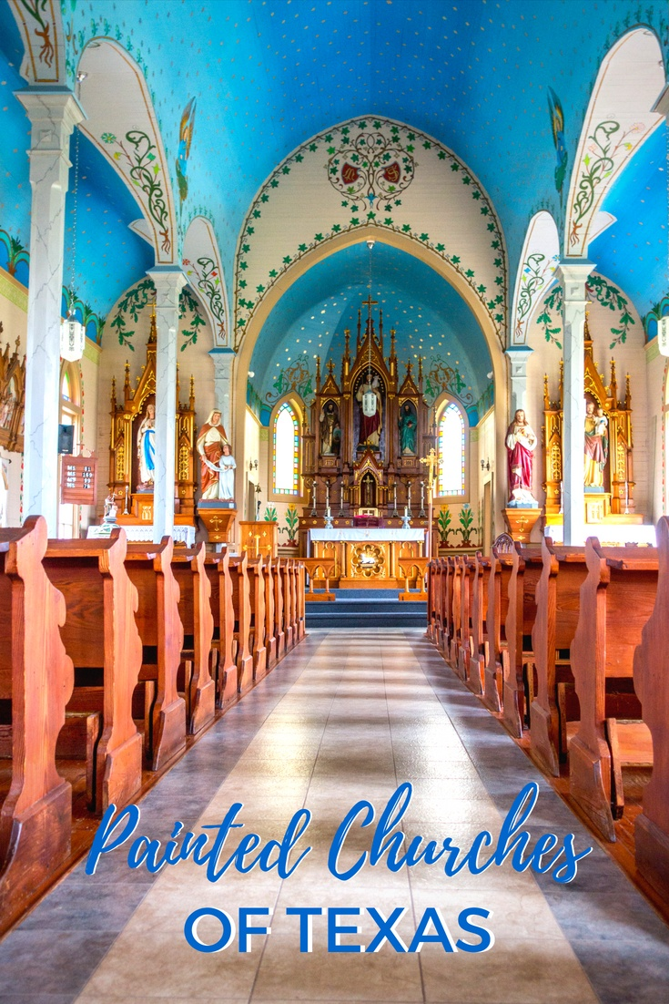 The painted churches of Texas are truly unexpected treasures. Simple exteriors open to reveal beautiful works of art reminiscent of the ornate church interiors found in Central Europe.