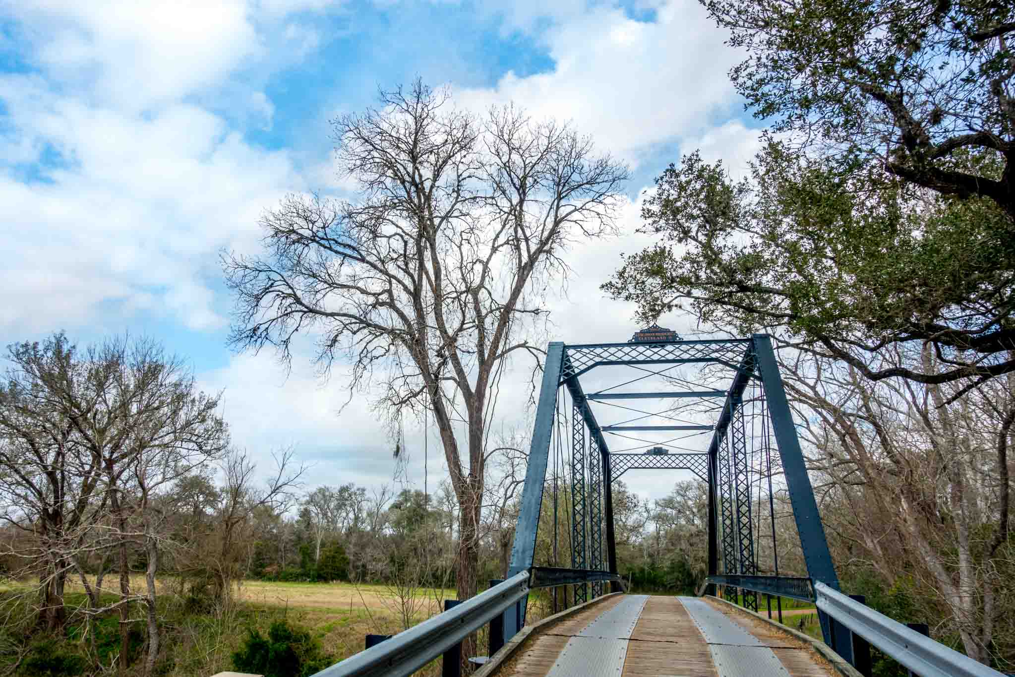 The Piano Bridge in Dubina TX is one of the only remaining iron bridges in the United States
