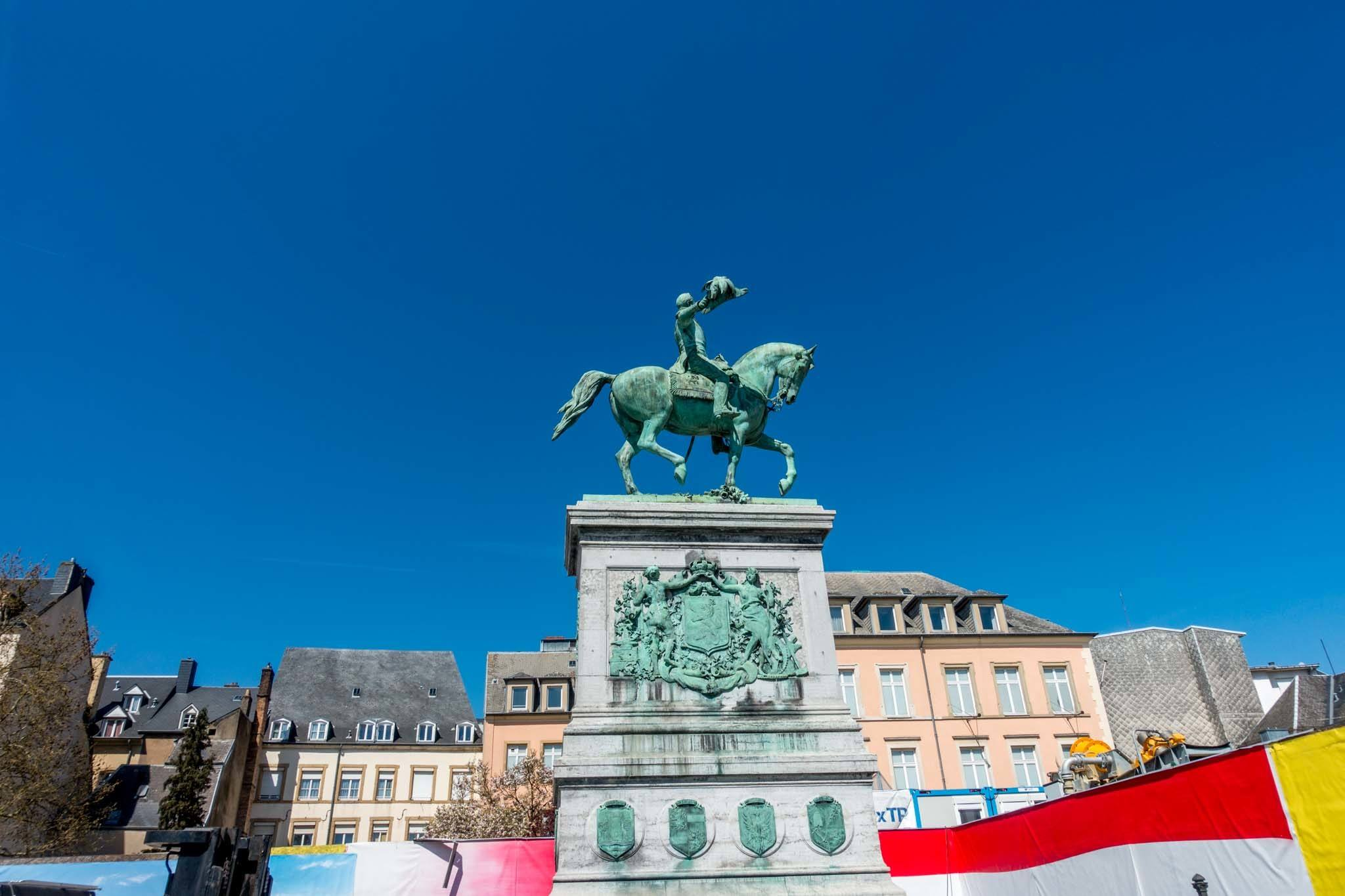 One of the Luxembourg sights, Place Guillaume II hosts markets and concerts in the heart of Luxembourg City