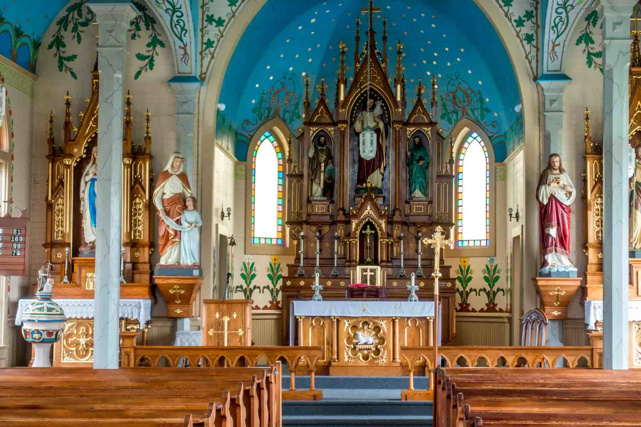 Sts Cyril and Methodius Church is the most beautiful church to see on a painted churches tour