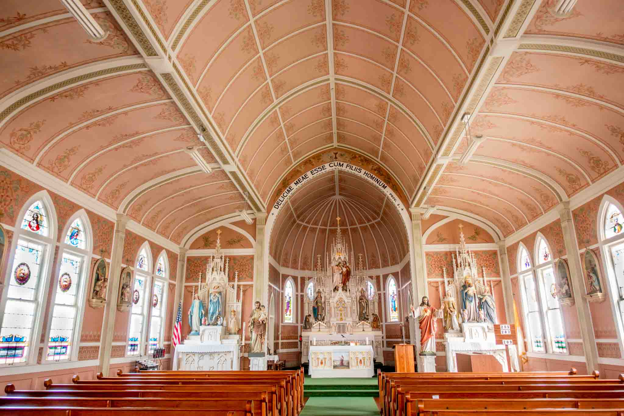 St. John the Baptist in Ammannsville is one of the churches sometimes known as the Schulenburg painted churches