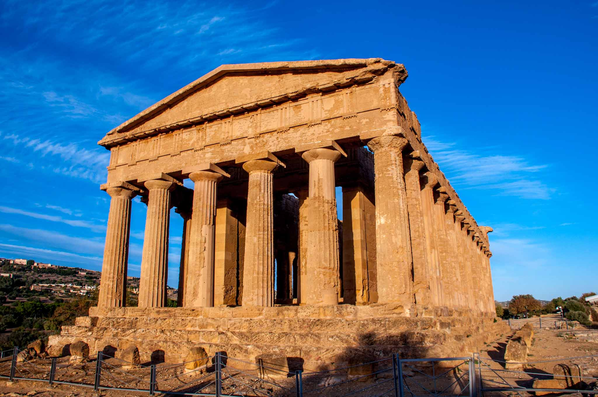 Ruins of an ancient temple in Agrigento, Sicily
