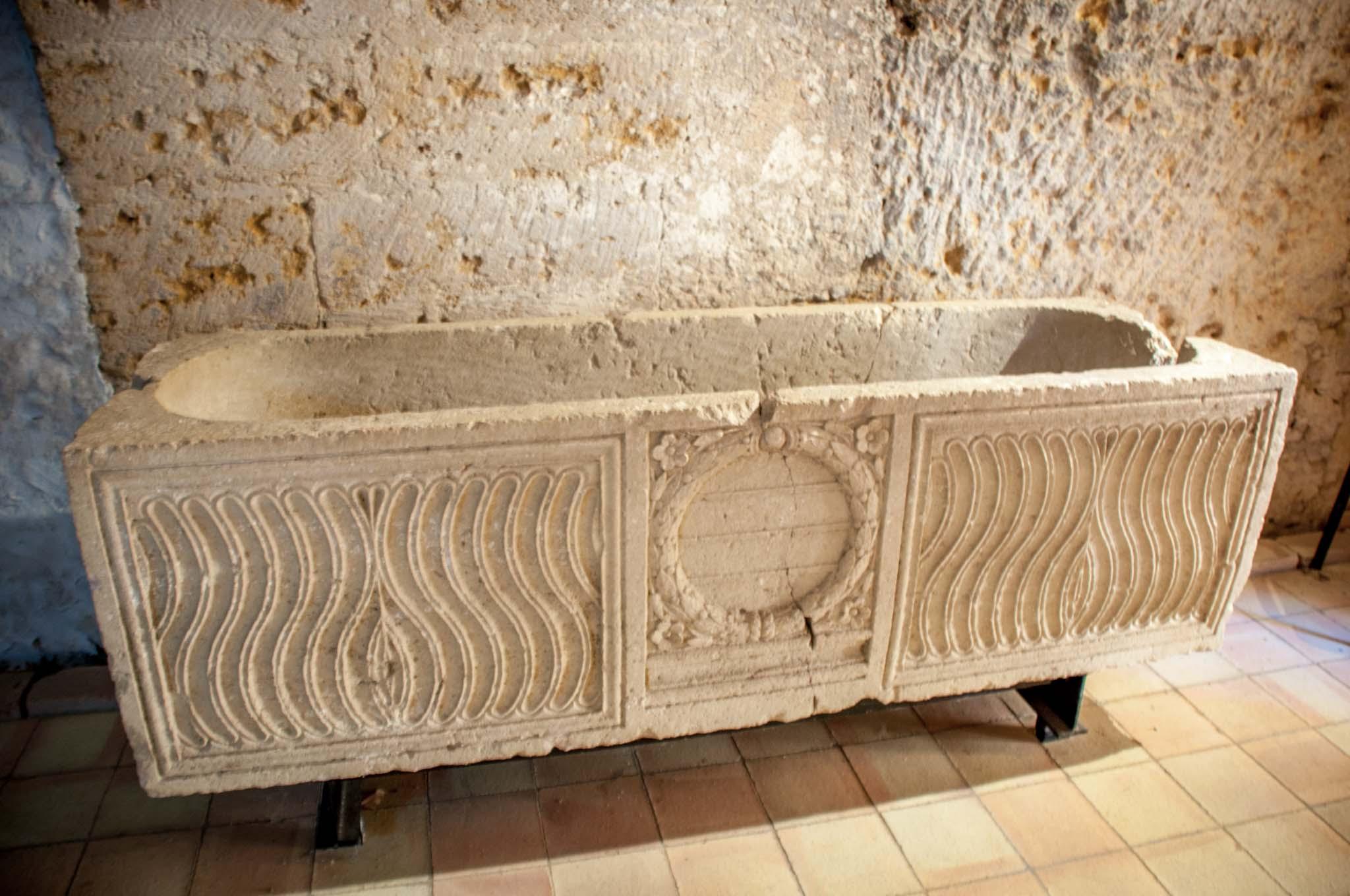 Ancient sarcophagus on display