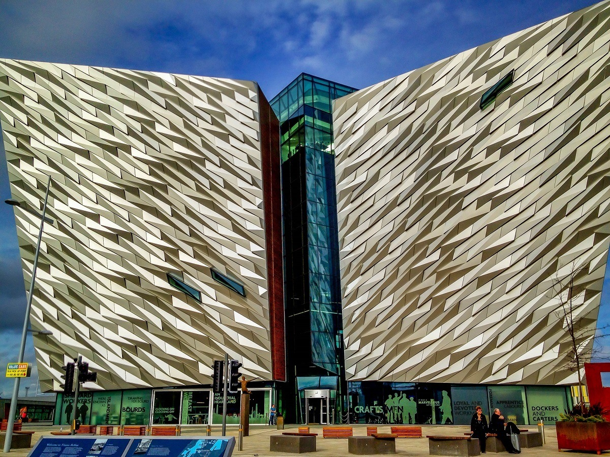 A Northern Ireland driving itinerary should include a stop at Titanic Belfast, the world's top tourist attraction