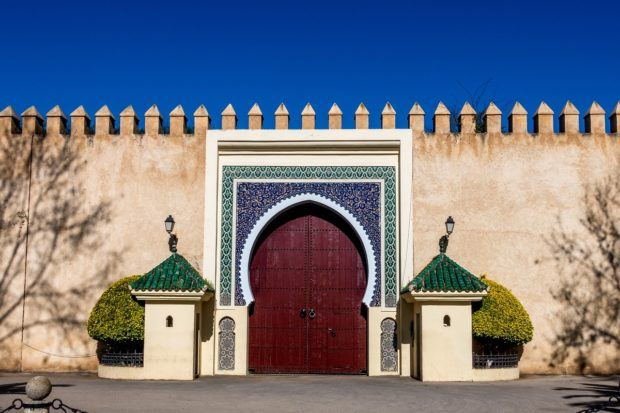 Royal palace gate in Fez, Morocco