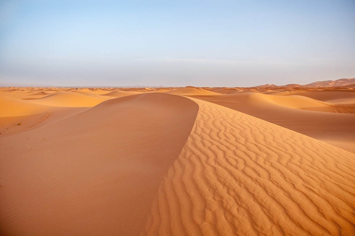 When traveling to Morocco, make sure to visit the desert