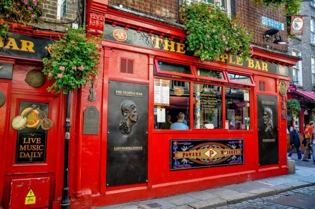 Temple Bar in Dublin is a highlight of a driving in Ireland itinerary 7 days