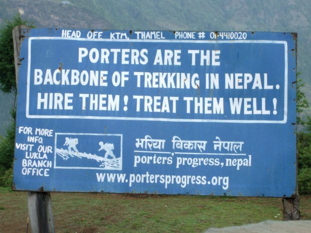 The treatment of the sherpas in Nepal is improving.  The sherpas are organizing and getting better treatment.  However, it left me wondering what does Sherpa mean really?  It is both a common Nepalese name as well as a profession with the Nepal trekking companies. Photo courtesy of World Expeditions tours.