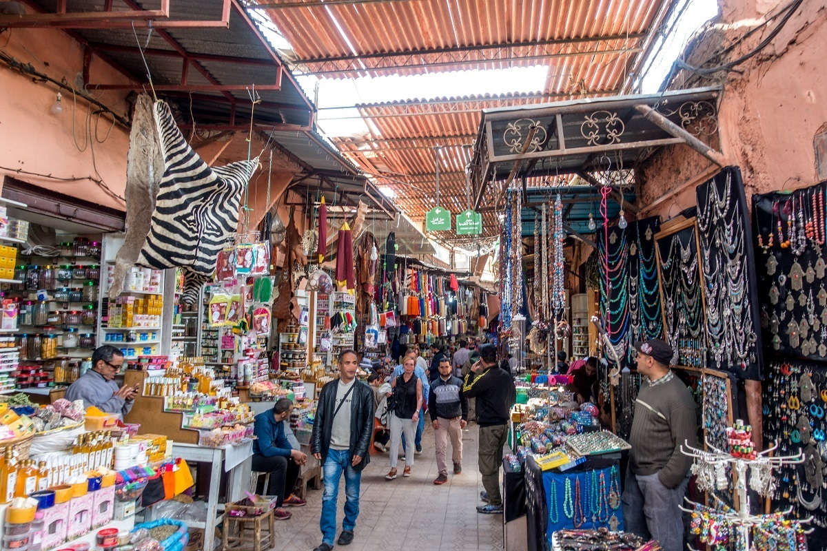 Traveling around Morocco, you will need cash for buying items at souks like those in Marrakech