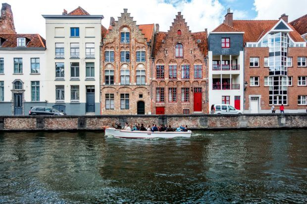 Taking a canal cruise is a fun thing to do in Bruges Belgium