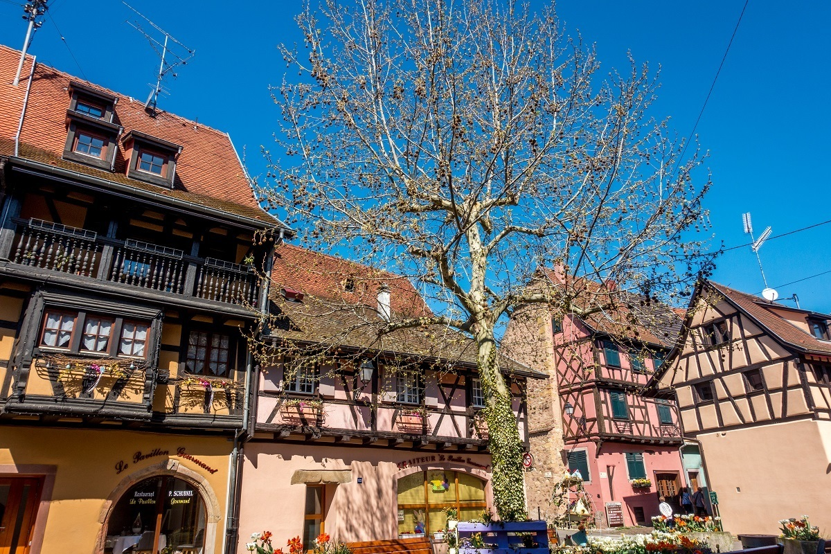 Just a few miles from Colmar, Eguisheim is one of the prettiest villages in Alsace Lorraine France
