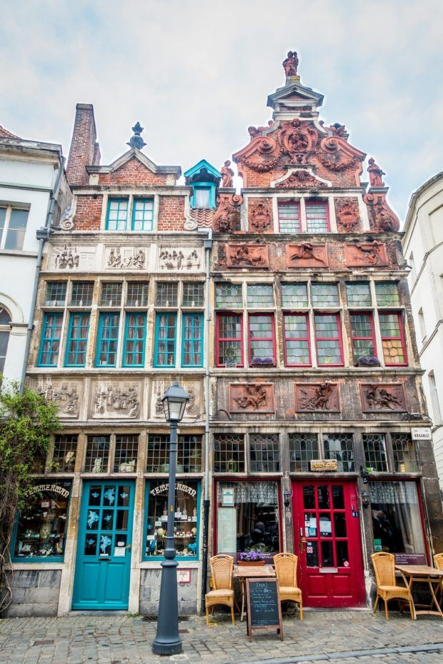Visit Patershol in Ghent Belgium for great restaurants and pretty buildings