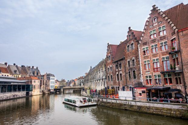 Ghent is one of the prettiest Belgium cities thanks to its canals