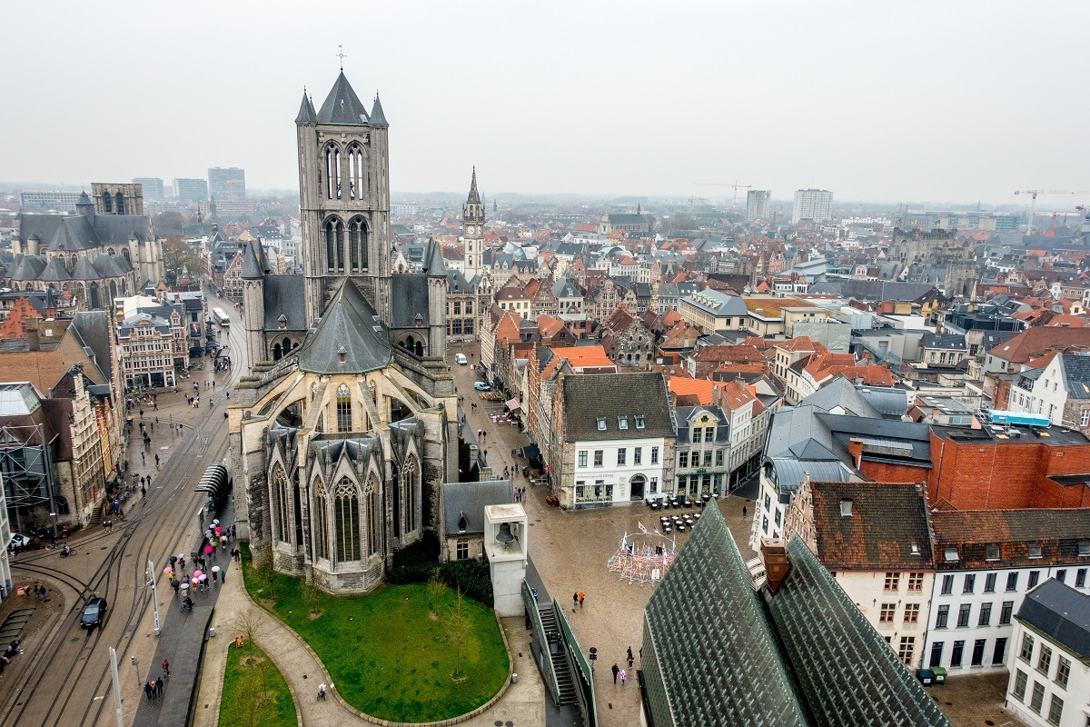 Wondering what to do in Ghent? Head to the top of the Belfry for amazing views
