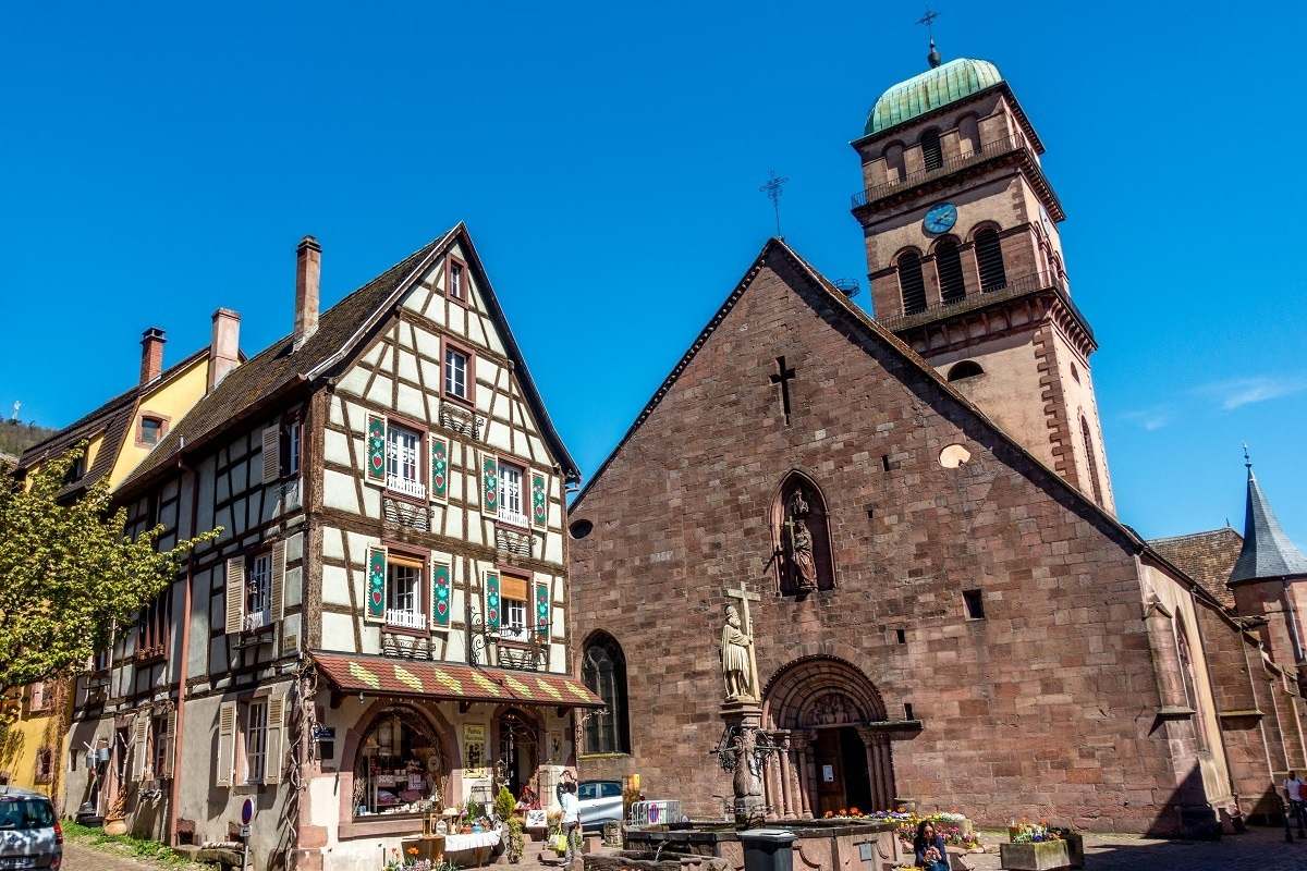 Kaysersberg is a highlight of the Alsace region of France. Many of its buildings date from medieval times.