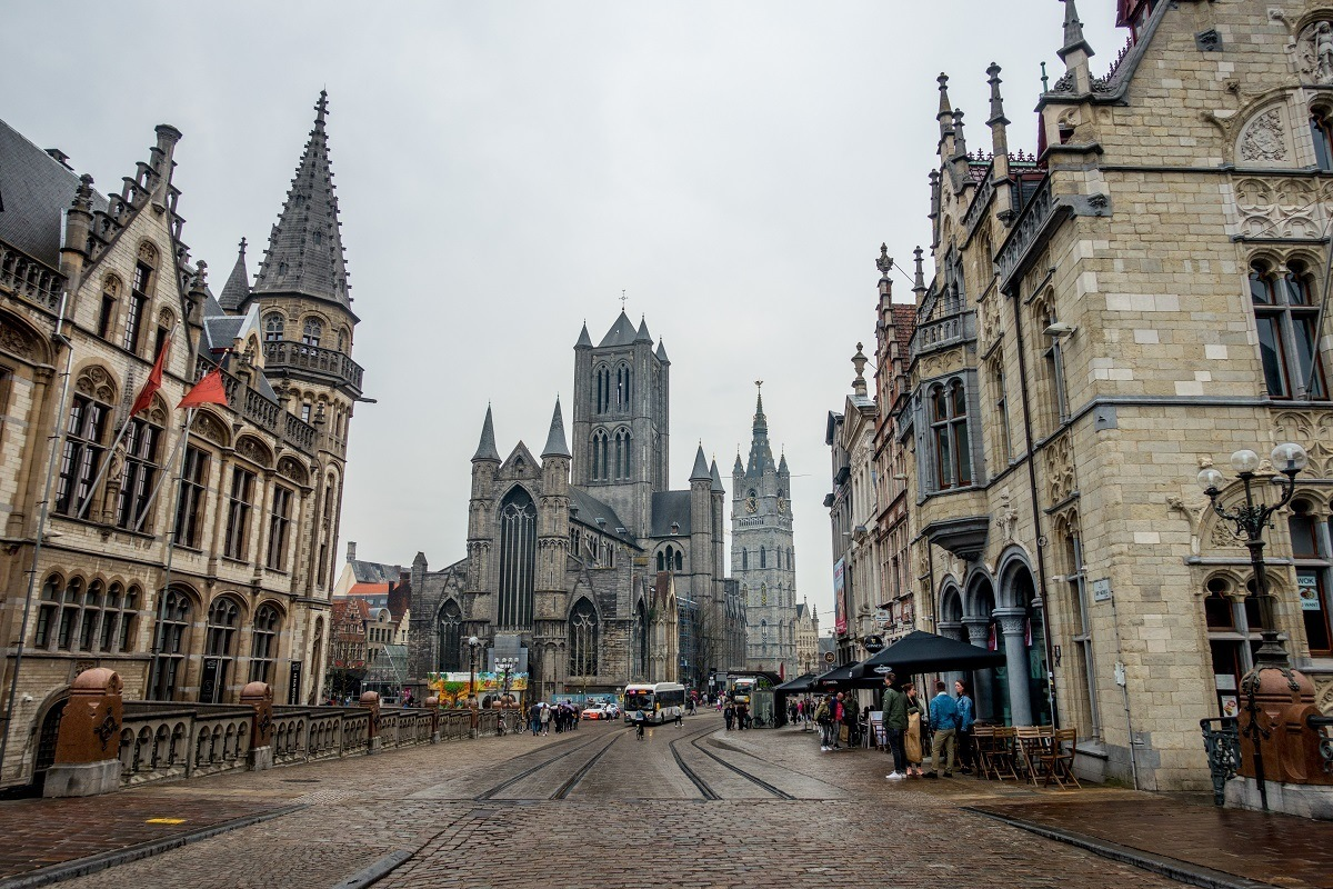 Visiting the three towers is one of the most fun things to do in Ghent Belgium