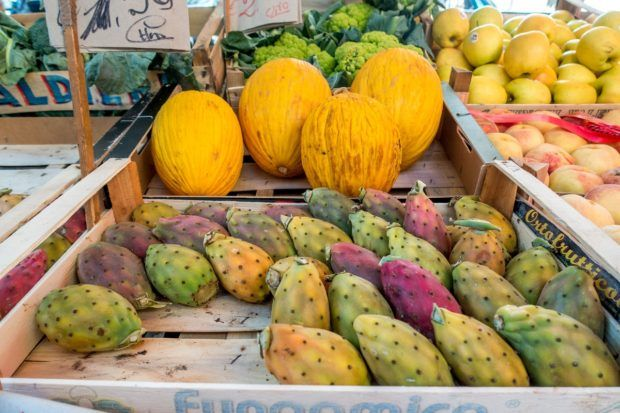 Check out the unusual produce of the Mercato di Capo Palermo Sicily