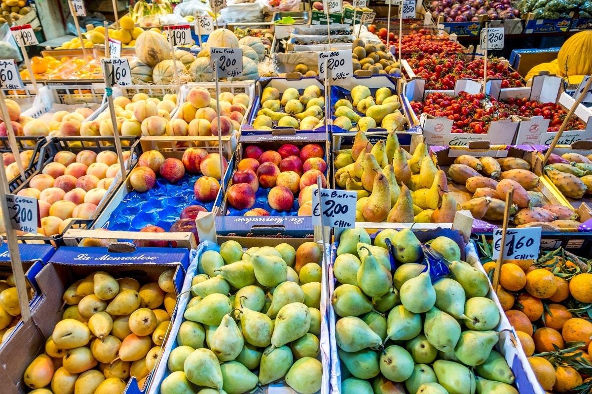 The fruits of La Vucciria Palermo, Sicily