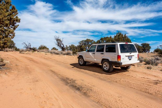 Instead of taking one of the expensive White Pocket tours, why not have an adventure and drive yourself in a 4x4 vehicle?  Your self-guided White Pocket tour can be a tremendous adventure.  Pick up a rental car in Kanab and hit the road!