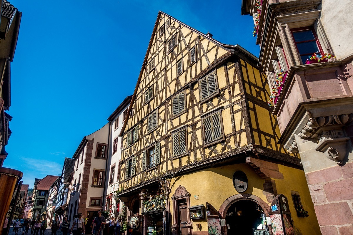 This yellow house was the largest mansion in Alsace when it was built in the 16th century