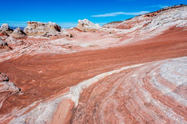 Vermilion Cliffs Photos:  Beautiful wave-like formations in the rock stand in contrast to rich, blue skies.  The whole Vermilion Cliffs National Monument is stunningly beautiful.