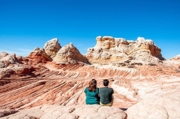 The Vermilion Cliffs National Monument (frequently misspelled as Vermillion Cliffs National Monument) is one of the most beautiful places we've ever visited.  Even though we didn't win The Wave lottery, we still won an amazing experience at White Pocket AZ.
