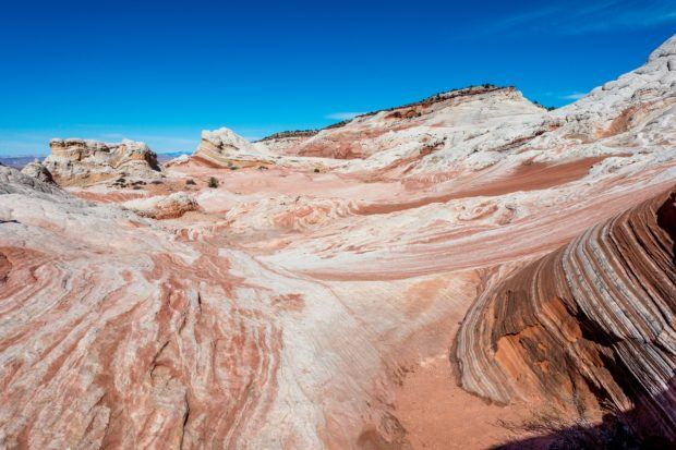 Vermilion Cliffs photos:  The area known as White Pocket in the Vermilion Cliffs (commonly misspelled Vermillion Cliffs AZ).  This is one of the most popular Wave alternatives for people who do not get Wave permits in the lottery.