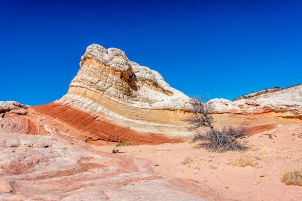 Rock striations at the Vermilion Cliffs White Pocket area.