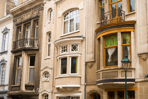Saint-Gilles is one of the best neighborhoods to stay in Brussels for Art Nouveau architecture