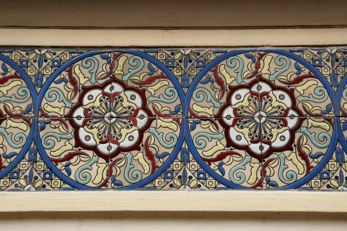 Art Nouveau architectural detail in Brussels Belgium