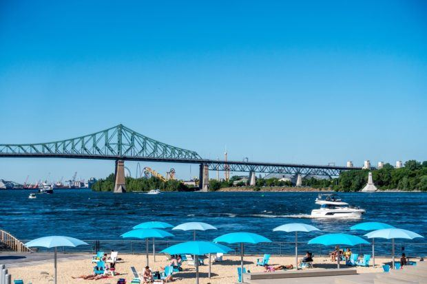 Pop ups like the Clock Tower Beach are some of the coolest summer attractions in Montreal Canada