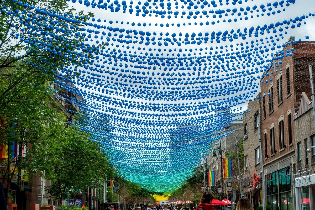 The Gay Village is one of the cool places to see in Montreal Canada