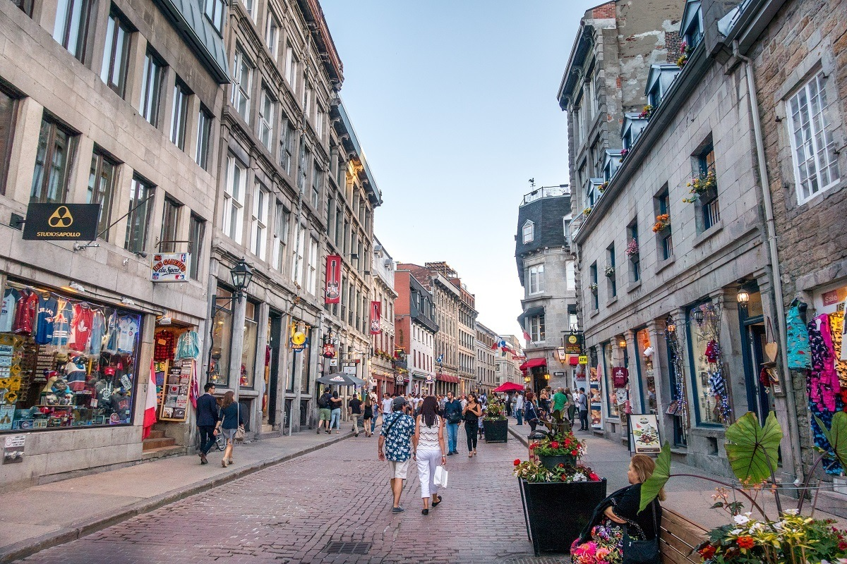 Visit Old Montreal attractions like Saint-George Street