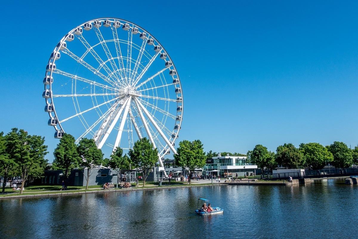 Ferris wheel by the water