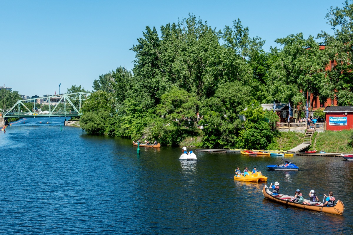 Kayaks in Lachine Canal
