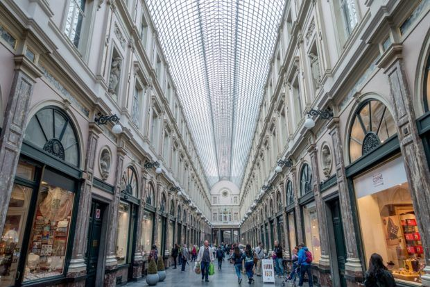 The Royal Gallery is one of the best places for shopping in Brussels