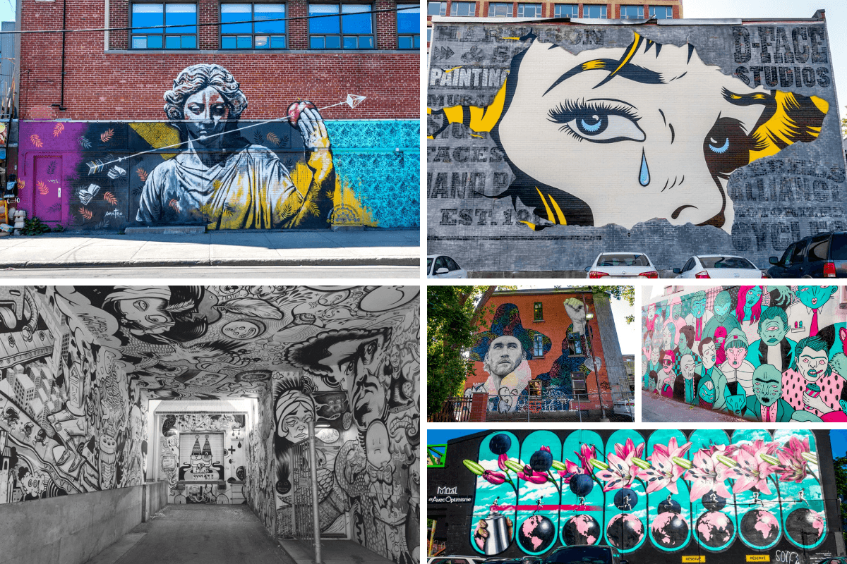 The many street art murals are a Montreal must see